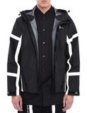 Black High Viz Evisukuro Print Jacket